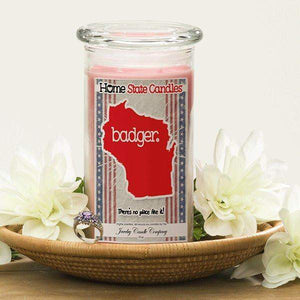 Home State Demonyms Jewelry Candles - Badger-Home State Demonyms Jewelry Candles-The Official Website of Jewelry Candles - Find Jewelry In Candles!