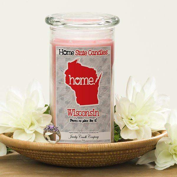 Wisconsin | Home State Candle®-The Official Website of Jewelry Candles - Find Jewelry In Candles!