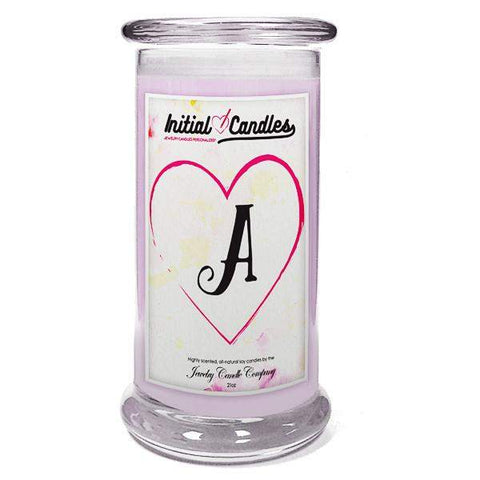 Letter A Initial Candles-Initial Candles-The Official Website of Jewelry Candles - Find Jewelry In Candles!