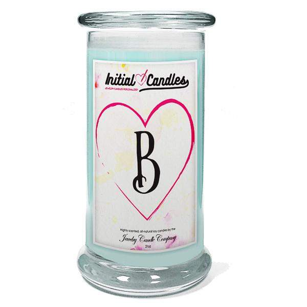 Letter B Initial Candles-Initial Candles-The Official Website of Jewelry Candles - Find Jewelry In Candles!