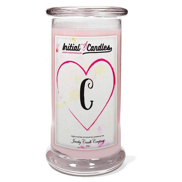 Letter C Initial Candles-Initial Candles-The Official Website of Jewelry Candles - Find Jewelry In Candles!