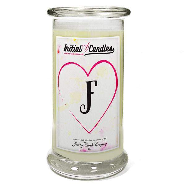 Letter F Initial Candles-Initial Candles-The Official Website of Jewelry Candles - Find Jewelry In Candles!
