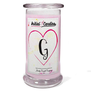 Letter G Initial Candles-Initial Candles-The Official Website of Jewelry Candles - Find Jewelry In Candles!