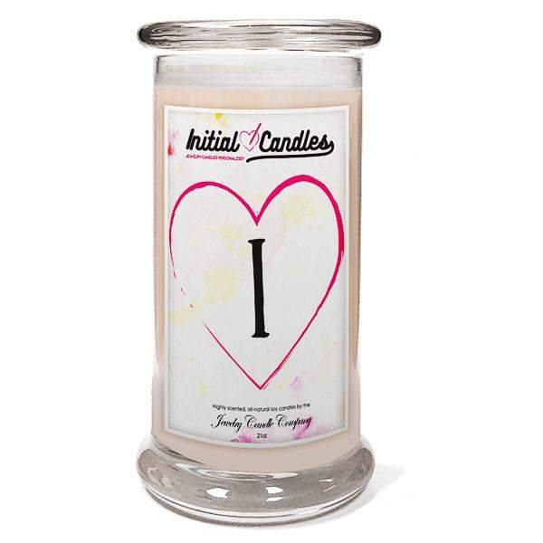 Letter I Initial Candles-Initial Candles-The Official Website of Jewelry Candles - Find Jewelry In Candles!
