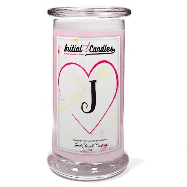 Letter J Initial Candles-Initial Candles-The Official Website of Jewelry Candles - Find Jewelry In Candles!