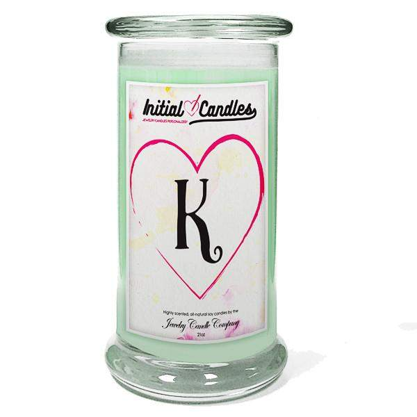 Letter K Initial Candles-Initial Candles-The Official Website of Jewelry Candles - Find Jewelry In Candles!