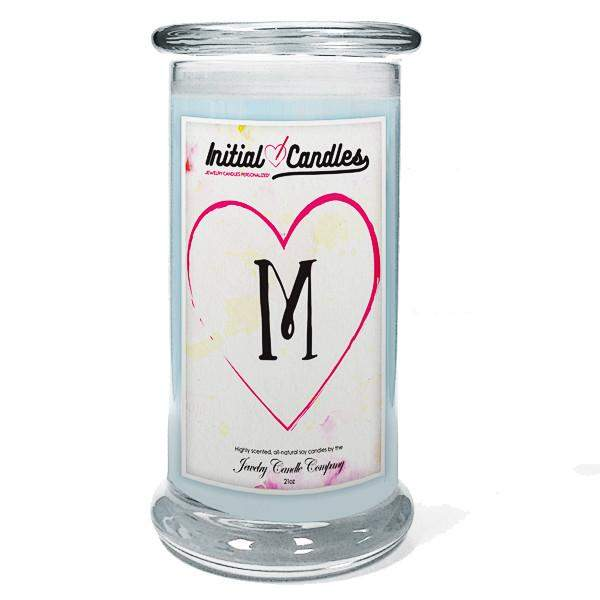 Letter M Initial Candles-Initial Candles-The Official Website of Jewelry Candles - Find Jewelry In Candles!