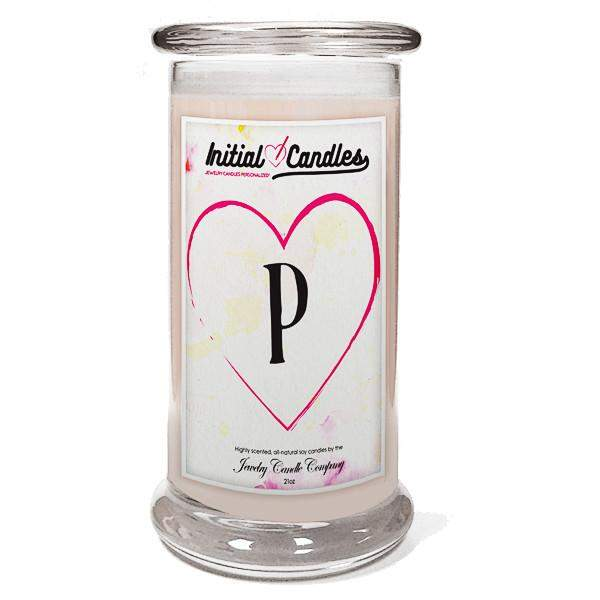 Letter P Initial Candles-Initial Candles-The Official Website of Jewelry Candles - Find Jewelry In Candles!