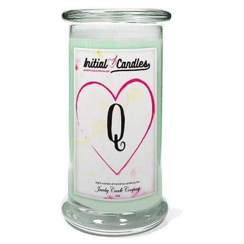 Letter Q Initial Candles-Initial Candles-The Official Website of Jewelry Candles - Find Jewelry In Candles!
