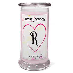Letter R Initial Candles-Initial Candles-The Official Website of Jewelry Candles - Find Jewelry In Candles!