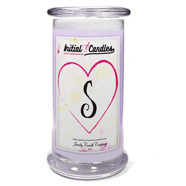 Letter S Initial Candles-Initial Candles-The Official Website of Jewelry Candles - Find Jewelry In Candles!