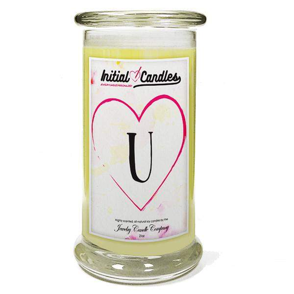 Letter U Initial Candles-Initial Candles-The Official Website of Jewelry Candles - Find Jewelry In Candles!