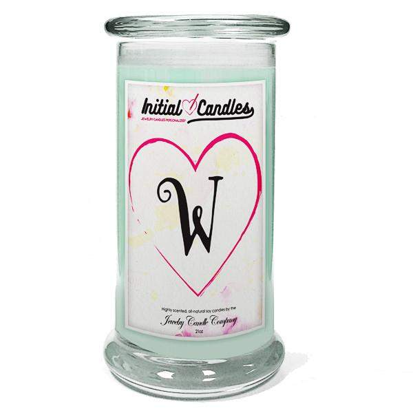 Letter W Initial Candles-Initial Candles-The Official Website of Jewelry Candles - Find Jewelry In Candles!