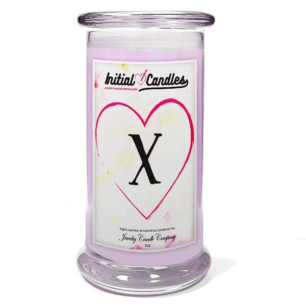 Letter X Initial Candles-Initial Candles-The Official Website of Jewelry Candles - Find Jewelry In Candles!