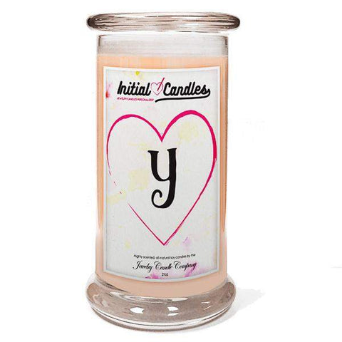 Letter Y Initial Candles-Initial Candles-The Official Website of Jewelry Candles - Find Jewelry In Candles!