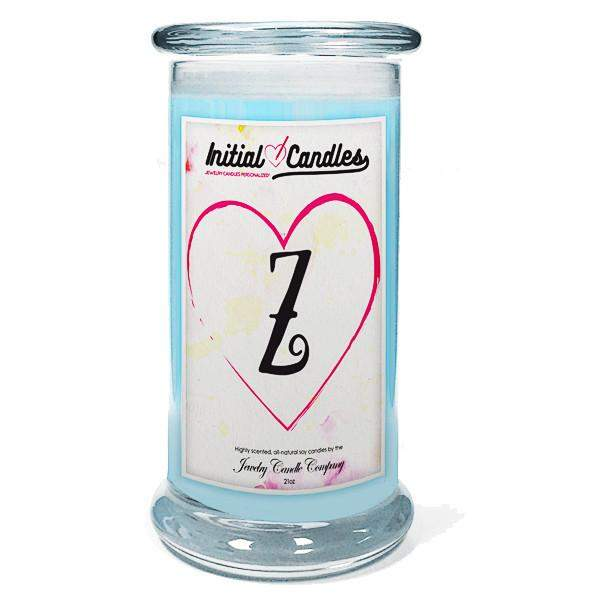 Letter Z Initial Candles-Initial Candles-The Official Website of Jewelry Candles - Find Jewelry In Candles!