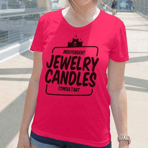 Black On Hot Pink Short-Sleeve Shirt - Jewelry Clothing-Jewelry Apparel-The Official Website of Jewelry Candles - Find Jewelry In Candles!