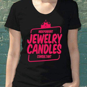 Hot Pink On Black Short-Sleeve Shirt - Jewelry Clothing-Jewelry Apparel-The Official Website of Jewelry Candles - Find Jewelry In Candles!