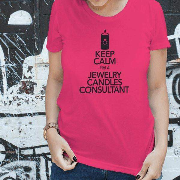 Black on Hot Pink Keep Calm Short-Sleeve Shirt - Jewelry Clothing-Jewelry Apparel-The Official Website of Jewelry Candles - Find Jewelry In Candles!
