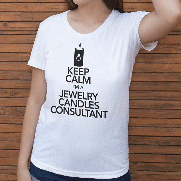 Black On White Keep Calm Short-Sleeve Shirt - Jewelry Clothing-Jewelry Apparel-The Official Website of Jewelry Candles - Find Jewelry In Candles!