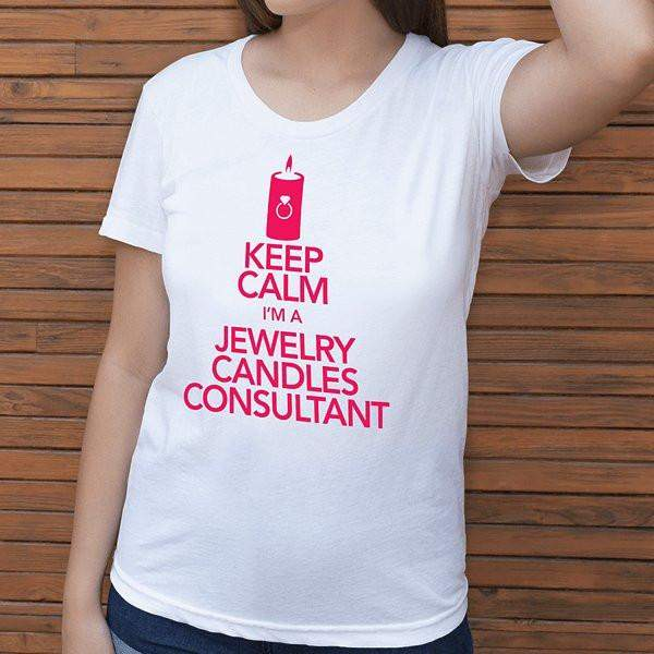 Hot Pink On White Keep Calm Short-Sleeve Shirt - Jewelry Clothing-Jewelry Apparel-The Official Website of Jewelry Candles - Find Jewelry In Candles!