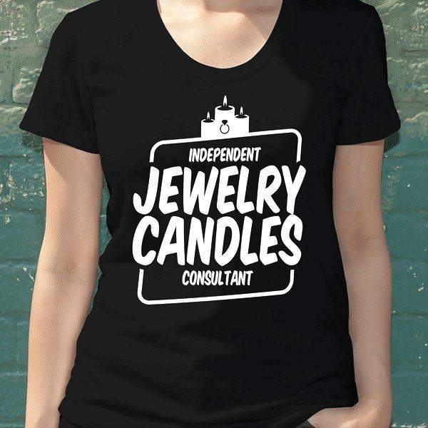 White On Black Short-Sleeve Shirt - Jewelry Clothing-Jewelry Apparel-The Official Website of Jewelry Candles - Find Jewelry In Candles!