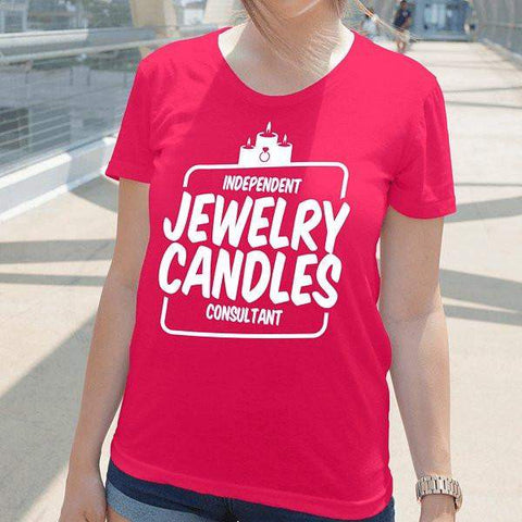 White On Hot Pink Short-Sleeve Shirt - Jewelry Clothing-Jewelry Apparel-The Official Website of Jewelry Candles - Find Jewelry In Candles!