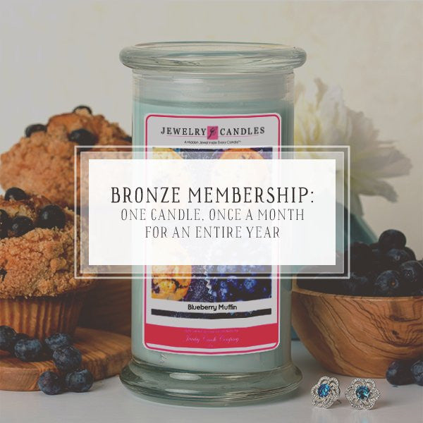 Candle Of The Month Club | Bronze Package | One Candle, Once A Month, For 12 Months-The Official Website of Jewelry Candles - Find Jewelry In Candles!