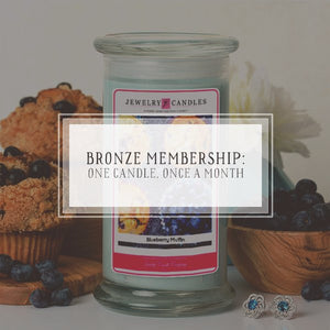 Candle Of The Month Club | Bronze Package | One Candle, Once Per Month-The Official Website of Jewelry Candles - Find Jewelry In Candles!
