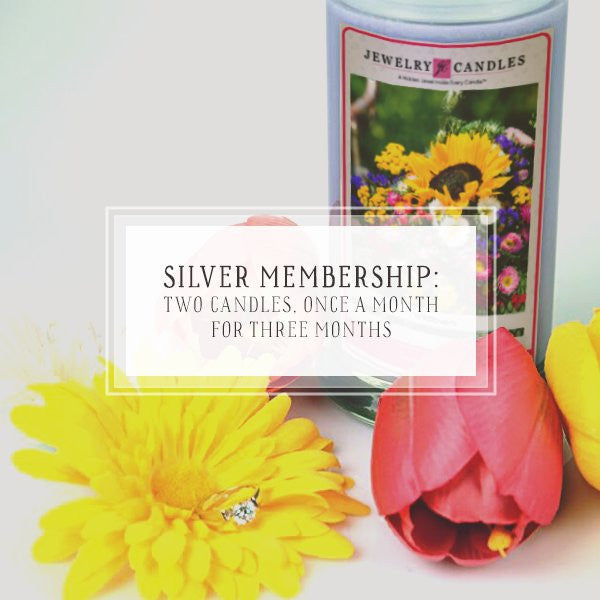 Candle Of The Month Club | Silver Package | One Candle, Once A Month, For 3 Months-The Official Website of Jewelry Candles - Find Jewelry In Candles!