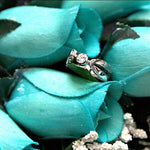 Baby Blue Bouquet | Jewelry Roses® Bouquet-Wax Dipped Roses-The Official Website of Jewelry Candles - Find Jewelry In Candles!