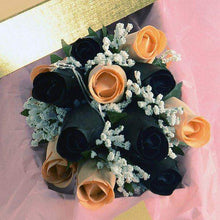 Black & Peach Bouquet | Jewelry Roses® Bouquet-Wax Dipped Roses-The Official Website of Jewelry Candles - Find Jewelry In Candles!