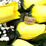 Red & Yellow | Jewelry Roses® Twin Bouquets-Wax Dipped Roses-The Official Website of Jewelry Candles - Find Jewelry In Candles!