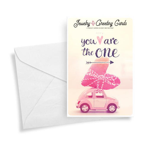 You Are The One | Valentine's Day Jewelry Greeting Card®-Jewelry Greeting Cards-The Official Website of Jewelry Candles - Find Jewelry In Candles!
