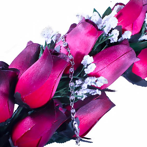 Red Bouquet | Jewelry Roses®-Wax Dipped Roses-The Official Website of Jewelry Candles - Find Jewelry In Candles!