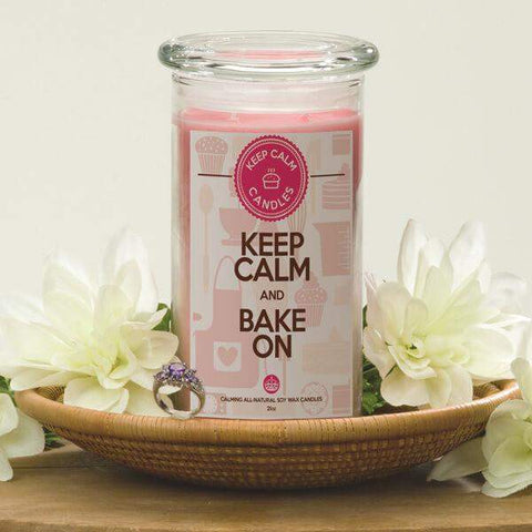 Keep Calm And Bake On - Keep Calm Candles-Keep Calm Candles-The Official Website of Jewelry Candles - Find Jewelry In Candles!