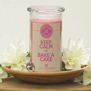 Keep Calm And Bake A Cake - Keep Calm Candles-Keep Calm Candles-The Official Website of Jewelry Candles - Find Jewelry In Candles!
