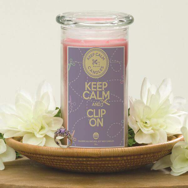 Keep Calm and Clip On - Keep Calm Candles-Keep Calm Candles-The Official Website of Jewelry Candles - Find Jewelry In Candles!