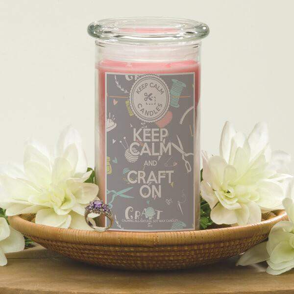 Keep Calm and Craft On - Keep Calm Candles-Keep Calm Candles-The Official Website of Jewelry Candles - Find Jewelry In Candles!