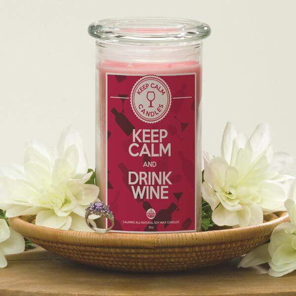 Keep Calm And Drink Wine - Keep Calm Candles-Keep Calm Candles-The Official Website of Jewelry Candles - Find Jewelry In Candles!