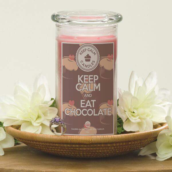 Keep Calm and Eat Chocolate - Keep Calm Candles-Keep Calm Candles-The Official Website of Jewelry Candles - Find Jewelry In Candles!
