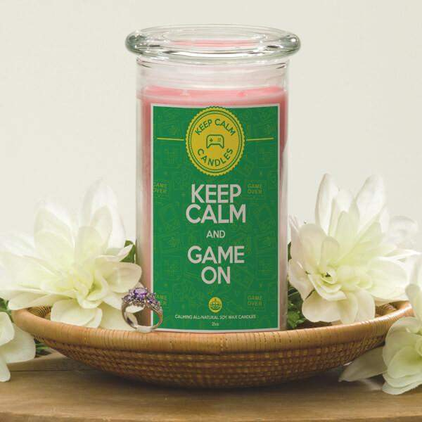 Keep Calm and Game On - Keep Calm Candles-Keep Calm Candles-The Official Website of Jewelry Candles - Find Jewelry In Candles!