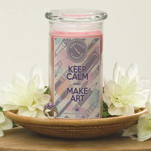 Keep Calm And Make Art - Keep Calm Candles-Keep Calm Candles-The Official Website of Jewelry Candles - Find Jewelry In Candles!