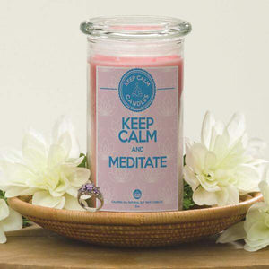 Keep Calm And Meditate - Keep Calm Candles-Keep Calm Candles-The Official Website of Jewelry Candles - Find Jewelry In Candles!