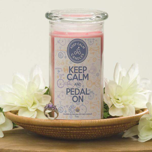 Keep Calm and Pedal On - Keep Calm Candles-Keep Calm Candles-The Official Website of Jewelry Candles - Find Jewelry In Candles!