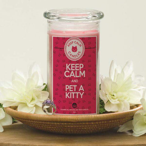 Keep Calm And Pet A Kitty - Keep Calm Candles-Keep Calm Candles-The Official Website of Jewelry Candles - Find Jewelry In Candles!
