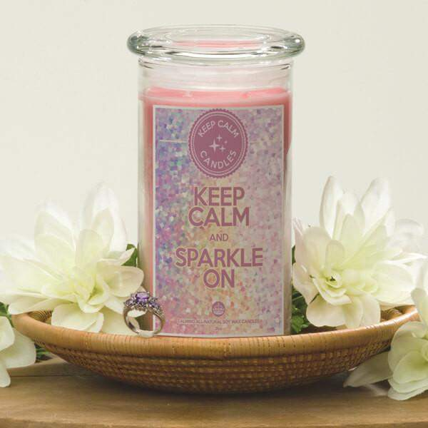 Keep Calm And Sparkle On - Keep Calm Candles-Keep Calm Candles-The Official Website of Jewelry Candles - Find Jewelry In Candles!