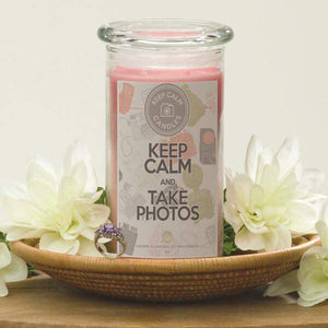 Keep Calm And Take Photos - Keep Calm Candles-Keep Calm Candles-The Official Website of Jewelry Candles - Find Jewelry In Candles!