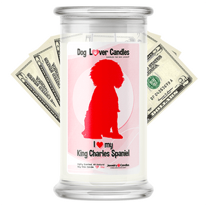 King Charles Spaniel Dog Lover Cash Candle