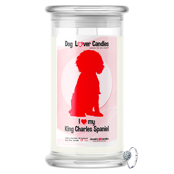 King Charles Spaniel Dog Lover Jewelry Candle